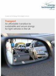 An affordable transition to sustainable and secure energy from light vehicles in the UK - Full Report